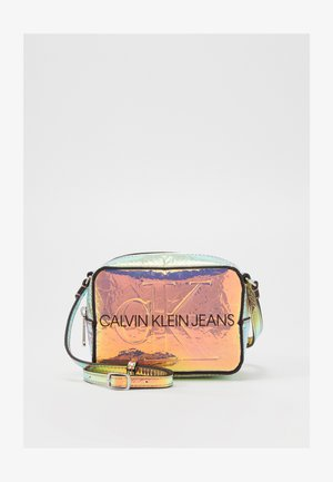 CAMERA BAG IRIDESCENT - Across body bag - grey