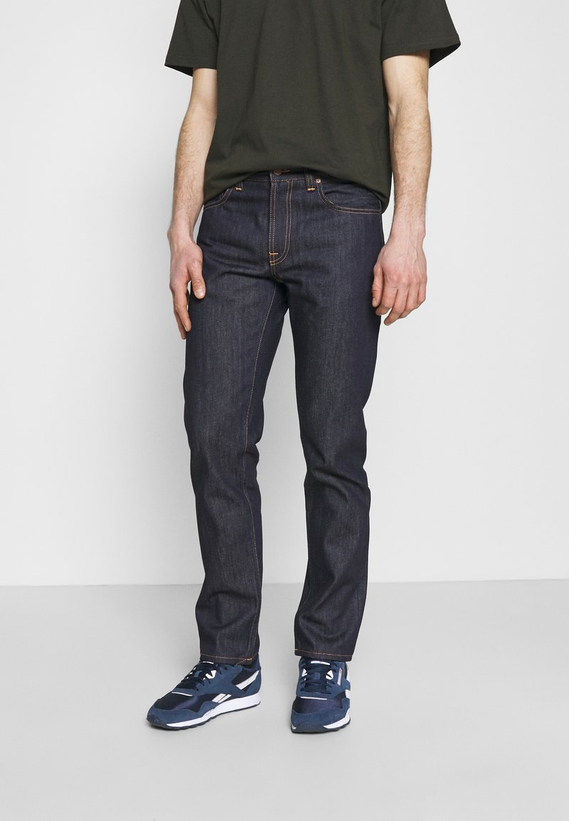 Nudie Jeans - GRITTY JACKSON - Straight leg -farkut - dark blue denim