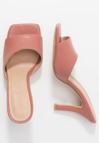 NA-KD - SQUARED TOE STILETTO MULES - Heeled mules - dusty pink - 3