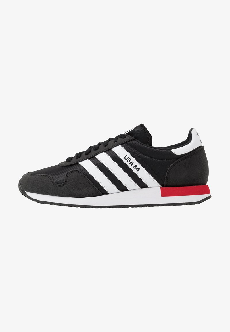 adidas Originals - USA 84 - Trainers - core black/footwear white/scarlet