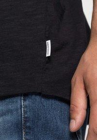 Jack & Jones - JJEBAS TEE - T-shirt - bas - black - 4