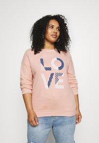 CAPSULE by Simply Be - SLOGAN LOVE - Sweatshirt - blush - 0