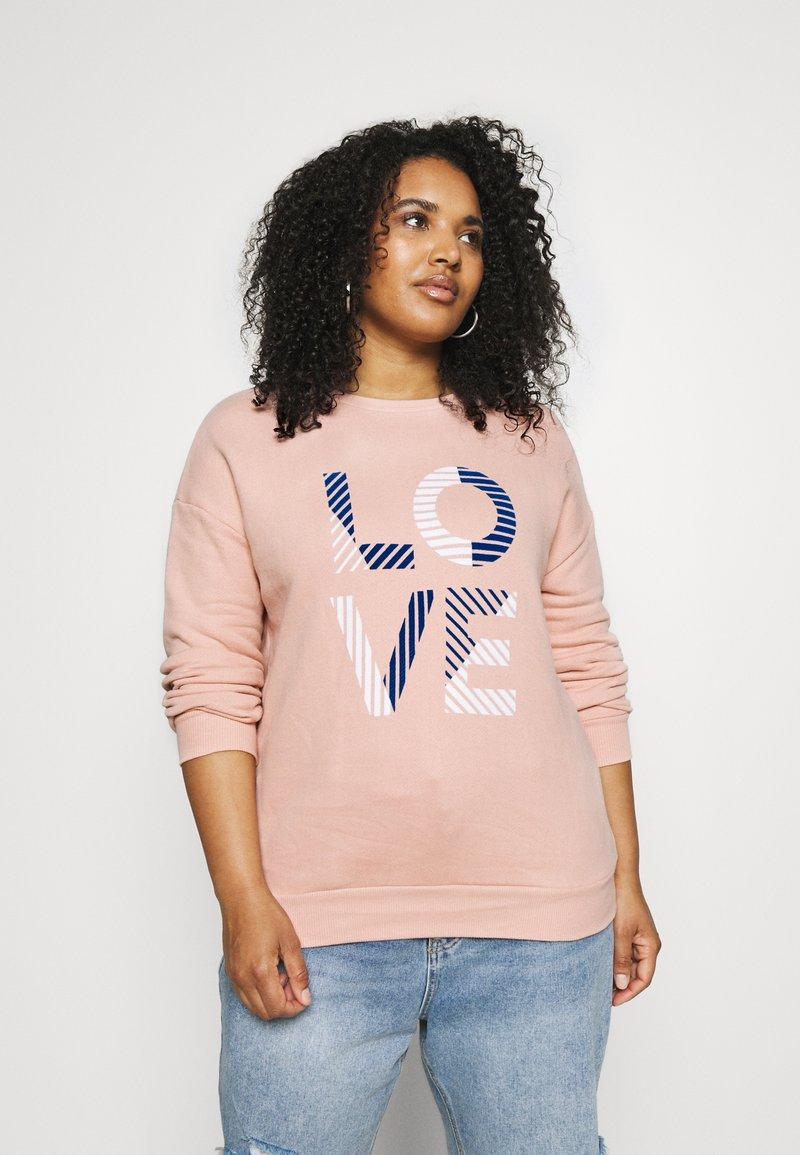 CAPSULE by Simply Be - SLOGAN LOVE - Sweatshirt - blush