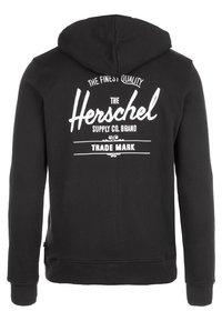 Herschel - Zip-up hoodie - black/white - 1