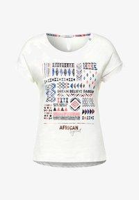 Cecil - MIT ETHNO-PRINT - Print T-shirt - weiß - 3