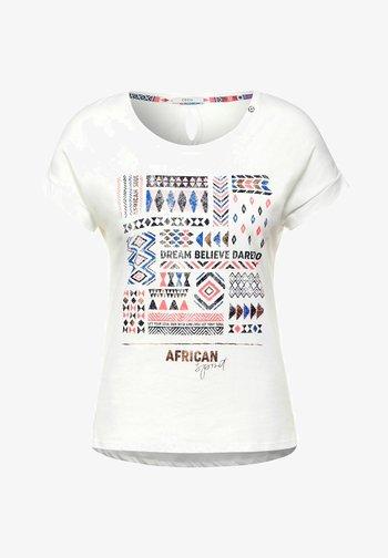 MIT ETHNO-PRINT - Print T-shirt - weiß
