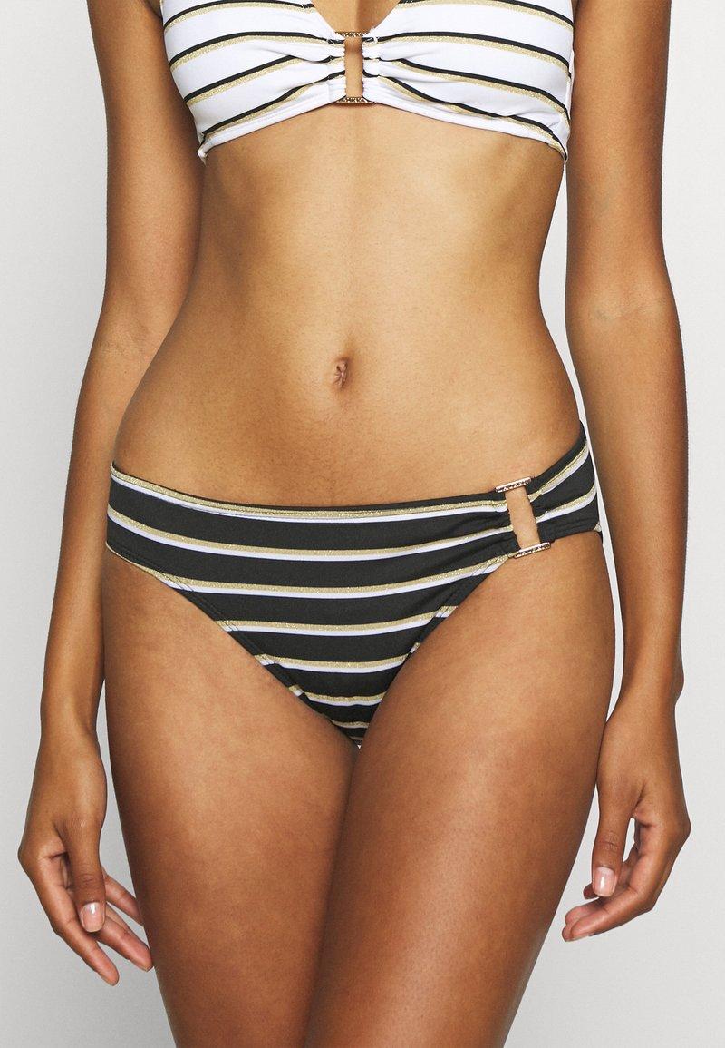 Lauren Ralph Lauren - RING FRONT HIPSTER - Bikini bottoms - black