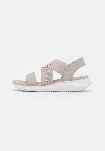ULTRA FLEX - Wedge sandals - stone gore