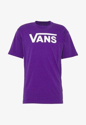 CLASSIC - T-shirt z nadrukiem - heliotrope-white