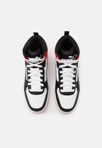 Puma - REBOUND JOY UNISEX - High-top trainers - white/black/high risk red - 3