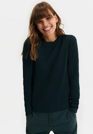 MET STRUCTUUR - Sweter - dark green