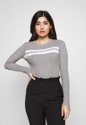 Strikpullover /Striktrøjer - grey/white