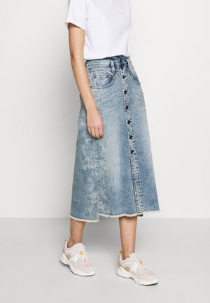 PALITA SKIRT - Denim skirt - fancy flower