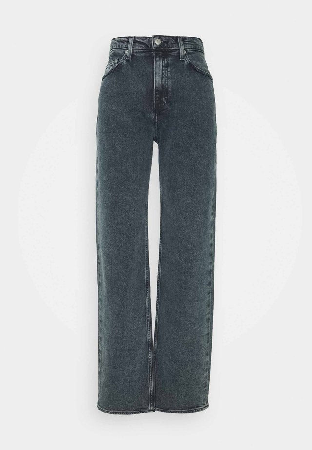 HIGH RISE LOOSE - Relaxed fit jeans - washed blue/black