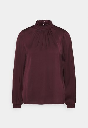 VISOFIE HIGH NECK SMOCK  - Blus - winetasting