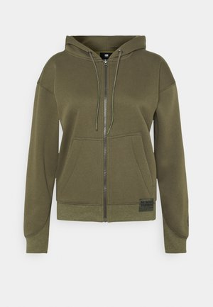 PREMIUM CORE HOODED ZIP THRU LONG SLEEVE - Mikina na zip - khaki