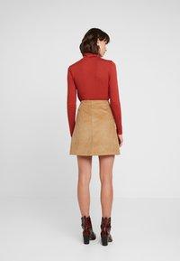 Levete Room - GERTRUD - Áčková sukně - brown clay - 2