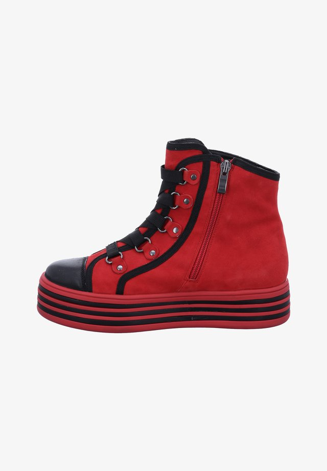 PAVIA - Lace-up ankle boots - red