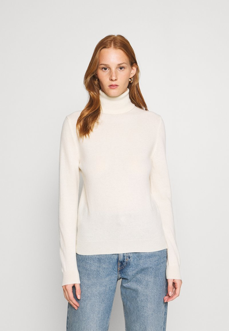 Benetton - TURTLE NECK - Maglione - offwhite