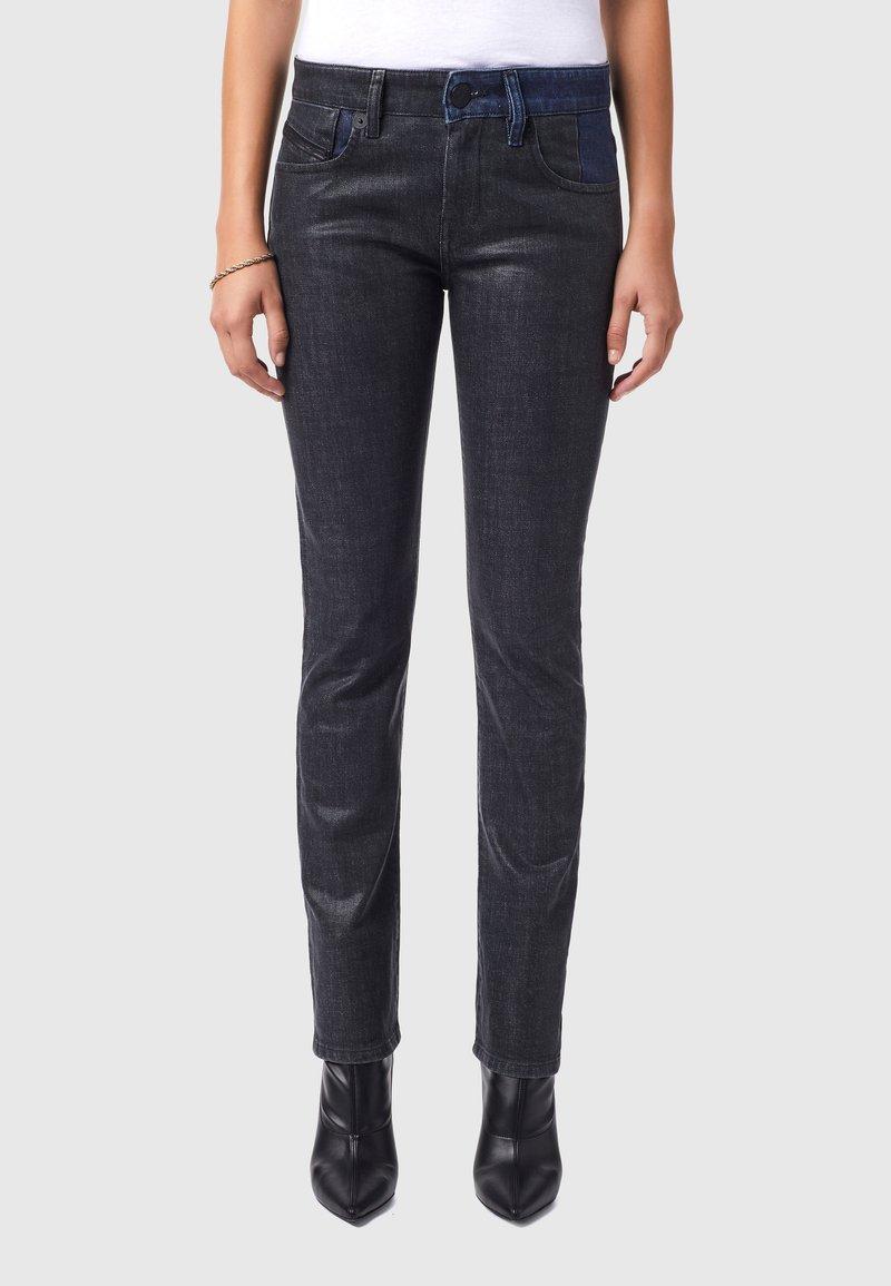Diesel - D-LYLA - Slim fit jeans - black/dark grey