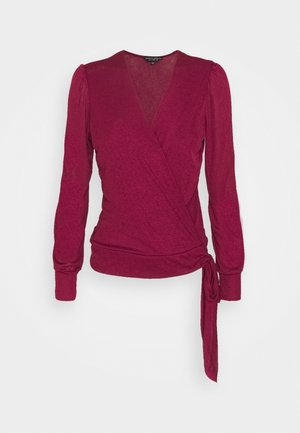 LONG SLEEVE WRAP  - Top s dlouhým rukávem - oxblood