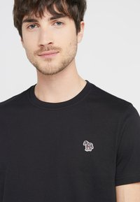 PS Paul Smith - SLIM FIT ZEBRA - T-shirt basic - black - 3
