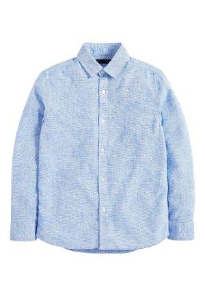 BLUE LONG SLEEVE LINEN MIX SHIRT (3-16YRS) - Shirt - blue