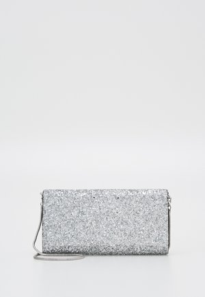 GLITTER FABRIC FRANCESINA - Clutches - silver