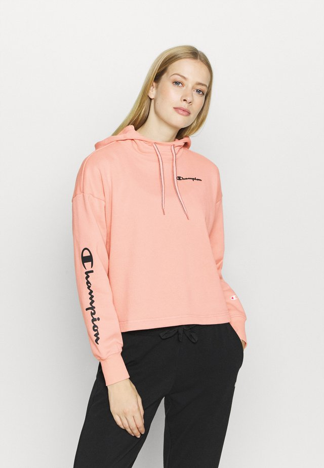 HOODED CROP LEGACY - Mikina s kapucí - pink