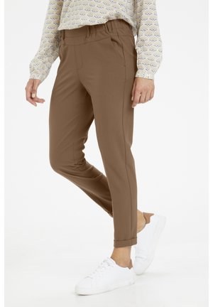 NANCI JILLIAN - Trousers - brown, ochre
