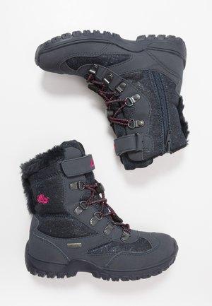 SASKIA - Snowboots  - marine/pink