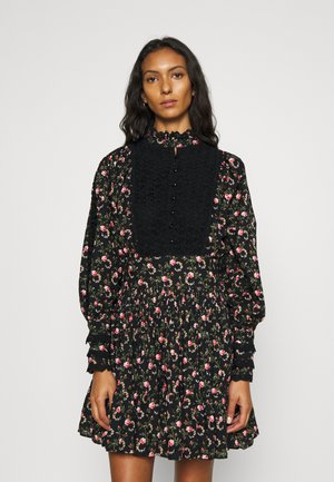 SLUB MINI DRESS - Kjole - black rose field