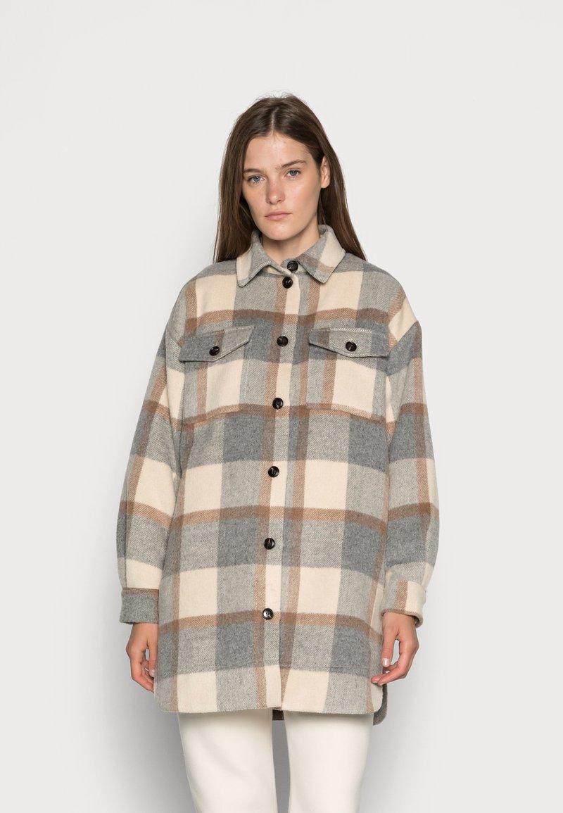 Stella Nova - EMMY - Classic coat - grey/creme/brown checks