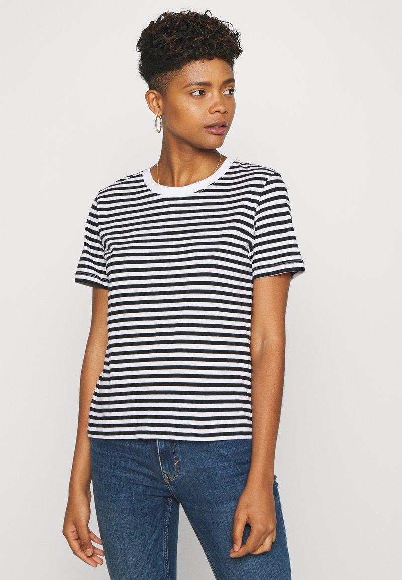 Even&Odd - Print T-shirt - black/white