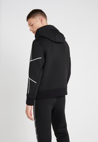 Neil Barrett BLACKBARRETT - ROBOT LINES OPEN FRONTED - Zip-up hoodie - black/white - 2