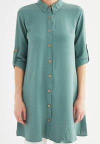 Trendyol - Button-down blouse - green - 4