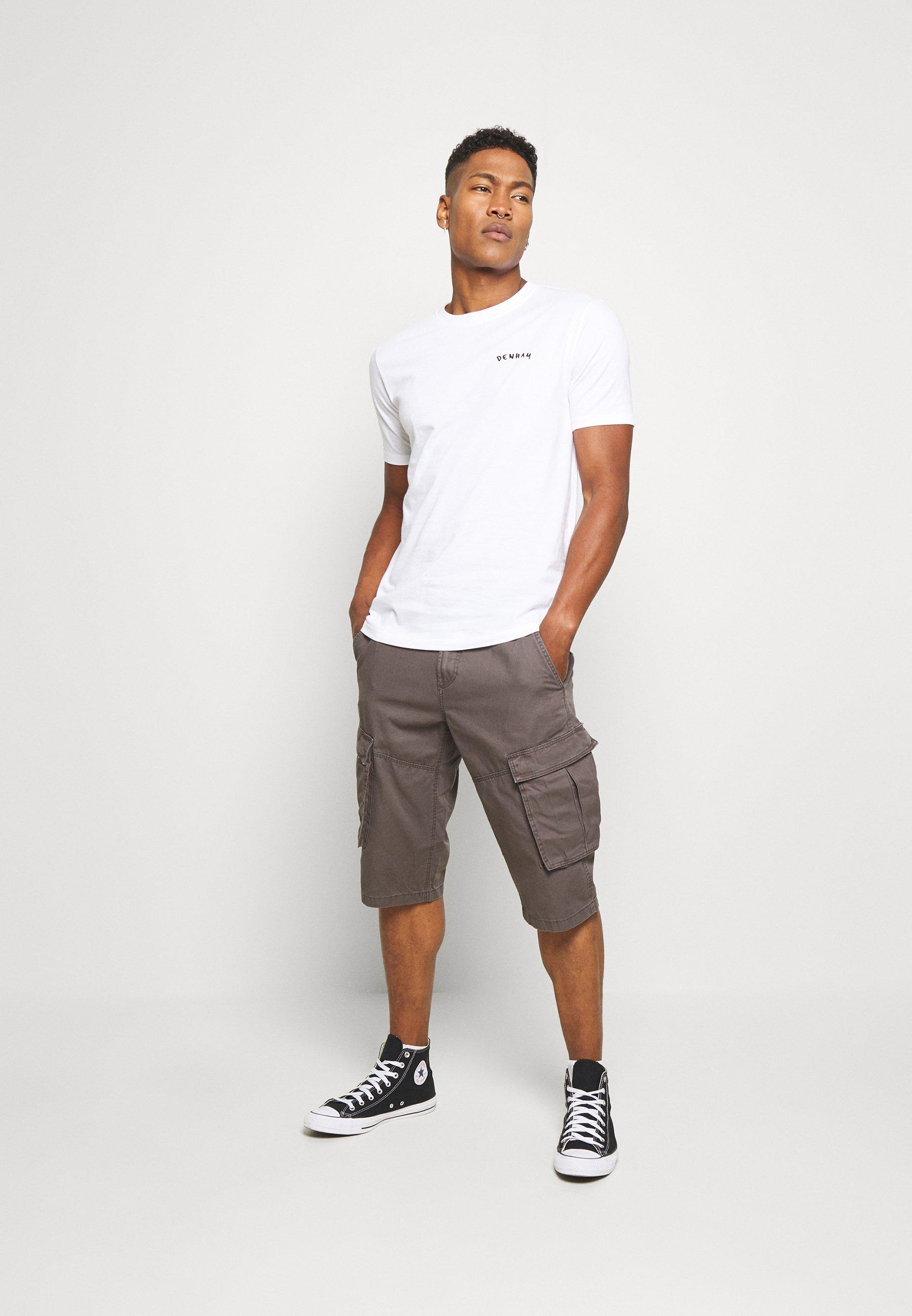 Denham SPENCER TEE - T-shirt imprimé - bright white