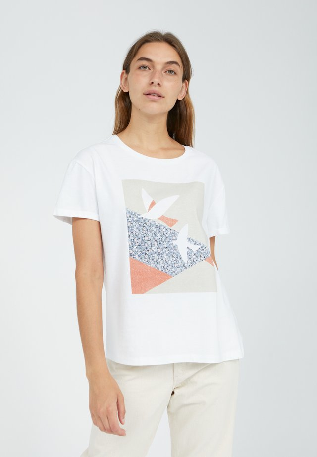NAALIN PRIMROSE DOVES - T-shirt print - white