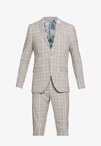 PINK CHECK SUIT WEDDING - Suit - grey