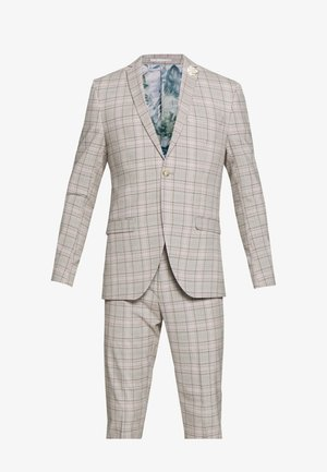 PINK CHECK SUIT WEDDING - Oblek - grey