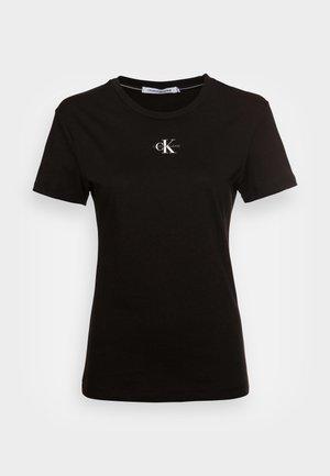 MICRO MONOGRAM  - T-shirt basic -  black