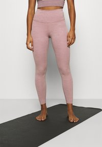 Nike Performance - THE YOGA LUXE 7/8 - Tights - smokey mauve/htr/(desert dust) - 0
