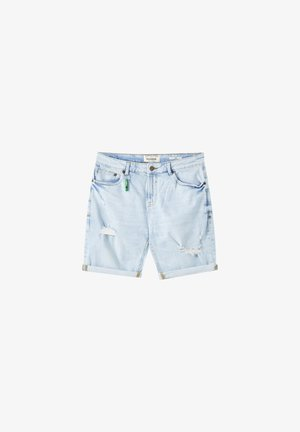 Denim shorts - blue-grey