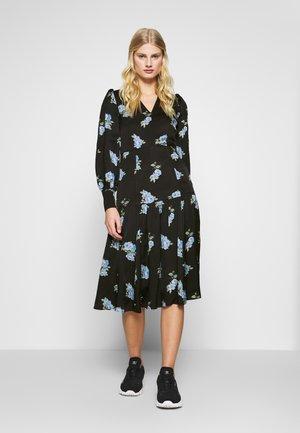 PUFFY DRESS MIDI - Day dress - black