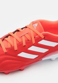 adidas Performance - COPA SENSE.3 FG UNISEX - Kopačky lisovky - red/footwear white/solar red - 5