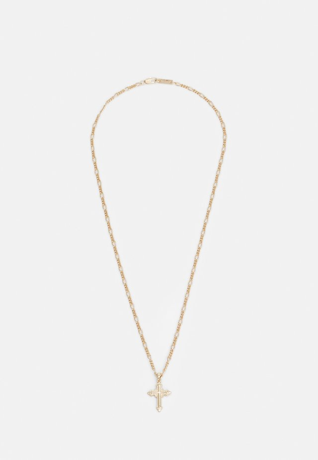 CROSS PENDANT FIGARO NECKLACE - Necklace - gold-coloured