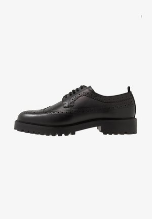 SEAN LONGWING BROGUE - Stringate - black