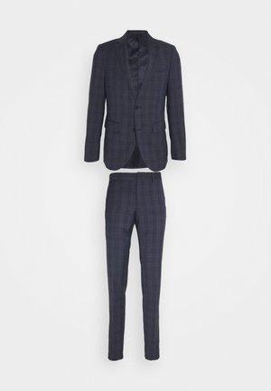 CHECK SUIT - Suit - dust blue