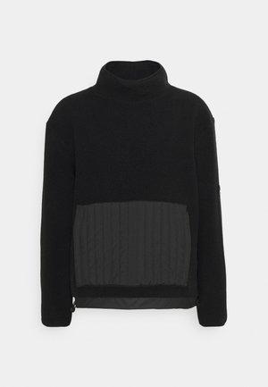 HIGH NECK UNISEX - Sweat polaire - black