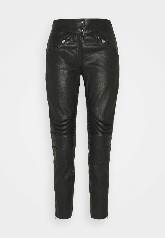 FREYA TROUSER - Pantalon en cuir - black